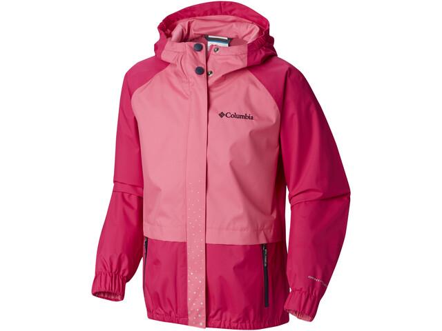 Columbia Splash S'more Regnjakke Piger, haute pink/wild geranium/nocturnal